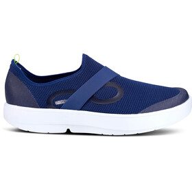 OOFOS OOmg Low Shoes Men, blauw/wit